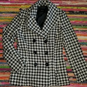Rampage Houndstooth Coat Size Medium